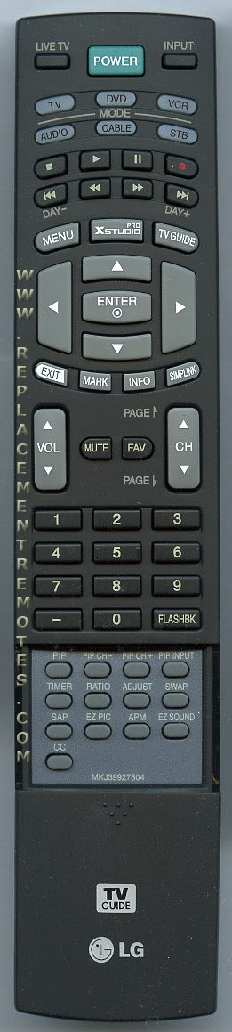 LG MKJ39927804 TV Remote Control