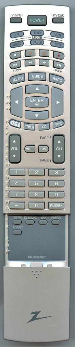 ZENITH MKJ39927807 Remote Control