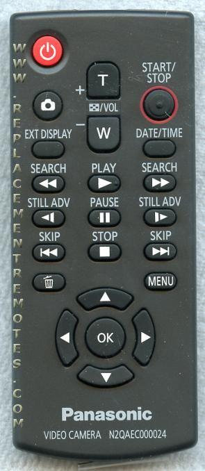 Buy Panasonic N2qaec000024 Video Camera Remote Control