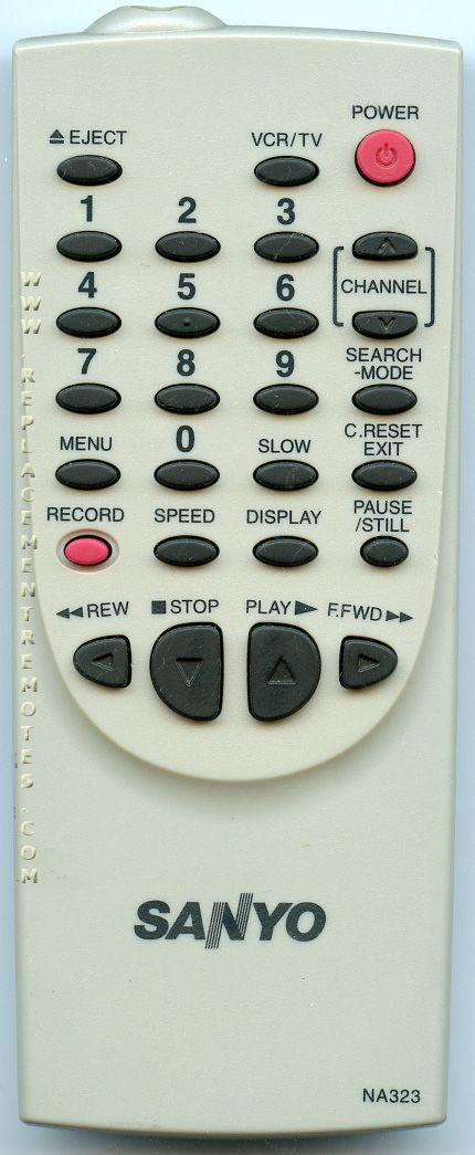 SANYO NA323 VCR Remote Control