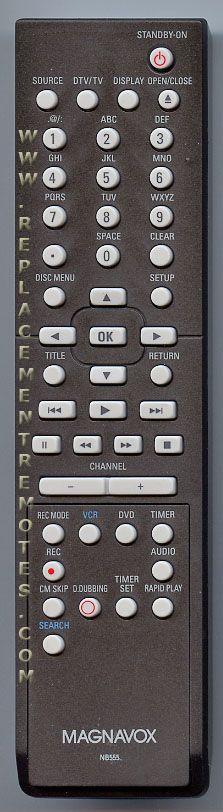 Buy Magnavox NB555UD DVD Recorder (DVDR) Remote Control