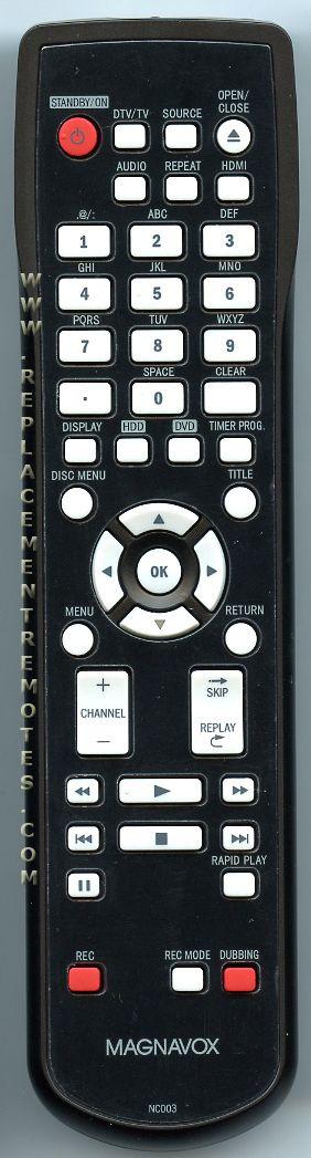 Magnavox NC003 DVD/HDD Player Remote Control