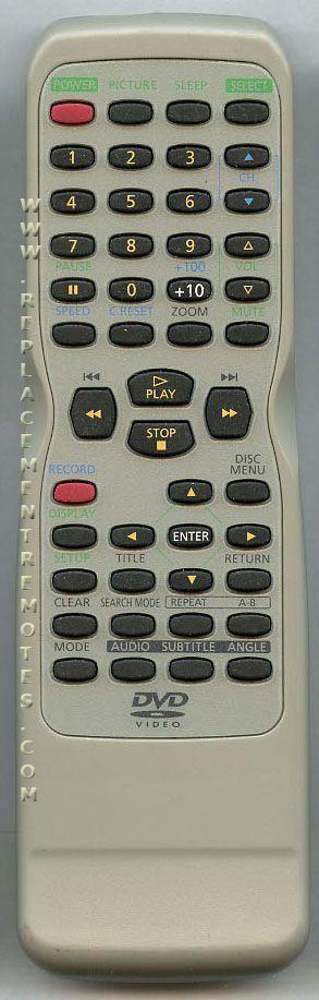 FUNAI NE209UD DVD Player Remote Control