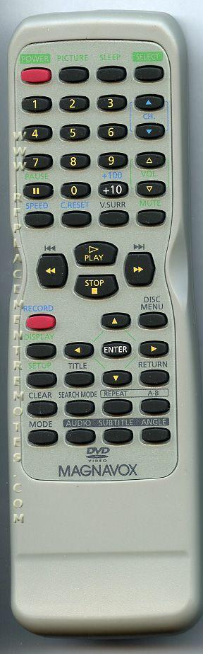 Magnavox NE225UD TV/VCR/DVD Combo Remote Control