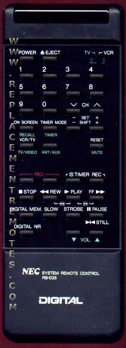Buy Nec Rbd25 Remote Control