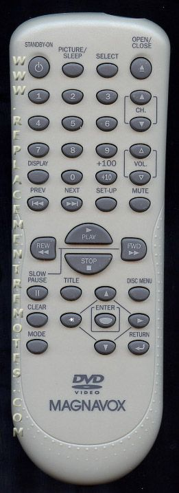 Magnavox NF102UD DVD Player Remote Control