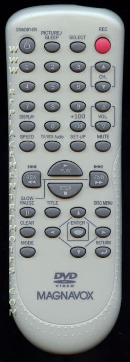 Magnavox NF104UD TV/VCR/DVD Combo Remote Control