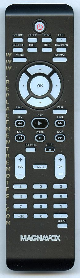 Magnavox NF801UD TV/DVD Combo Remote Control