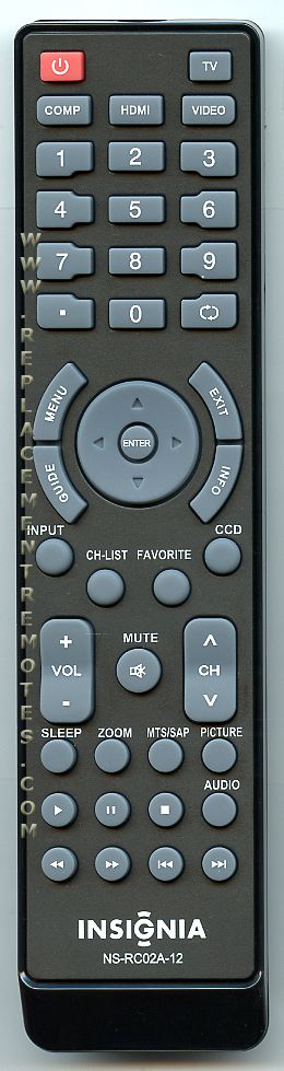 INSIGNIA NSRC02A12 TV Remote Control