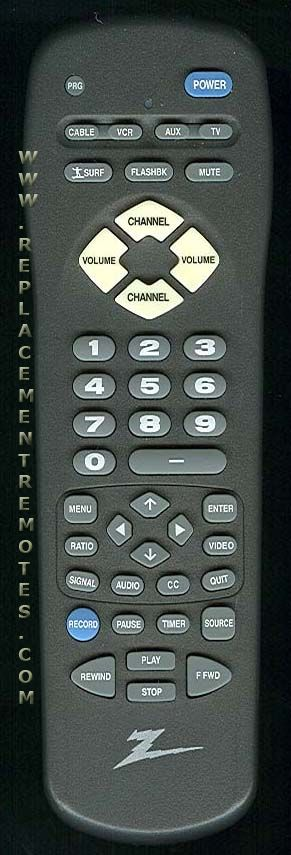 ZENITH MBR4286 Remote Control