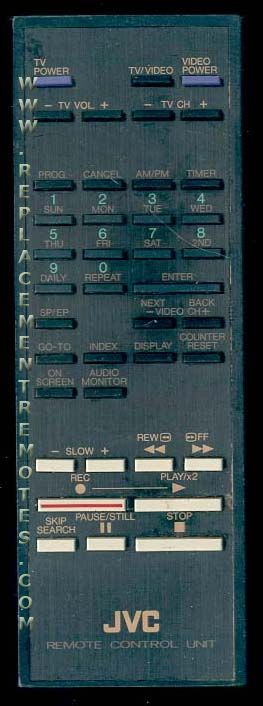 JVC PQ10544A2 VCR Remote Control