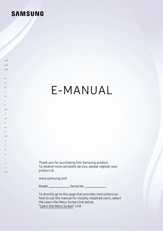 SAMSUNG QN43Q60TAFXZAOM Operating Manual