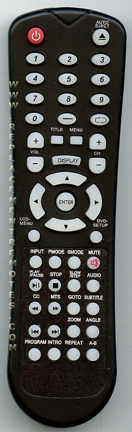 VIORE QTD7.820.12 TV Remote Control