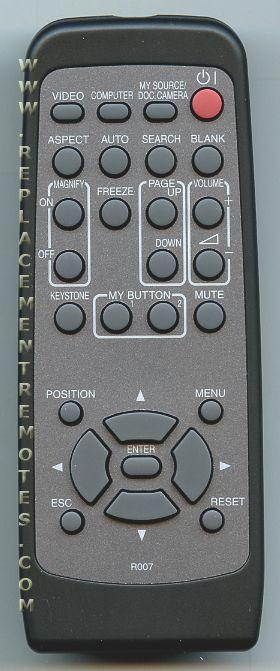 HITACHI R007 Projector Remote Control