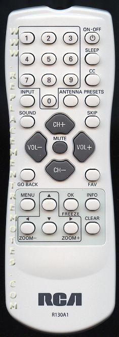 RCA R130A1 TV Remote Control