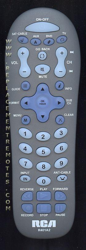 RCA R401A2 4-Device Universal Remote Control