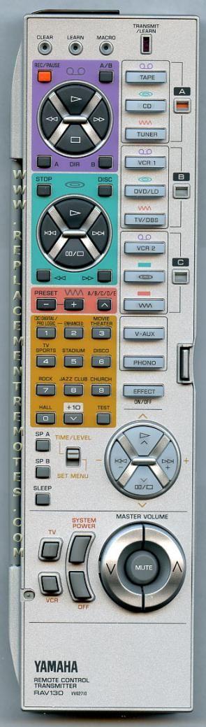 Buy YAMAHA RAV130 -VV627100 Audio/Video Receiver Remote Control