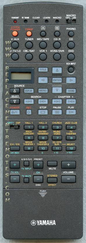 YAMAHA RAV226 Audio/Video Receiver Remote Control