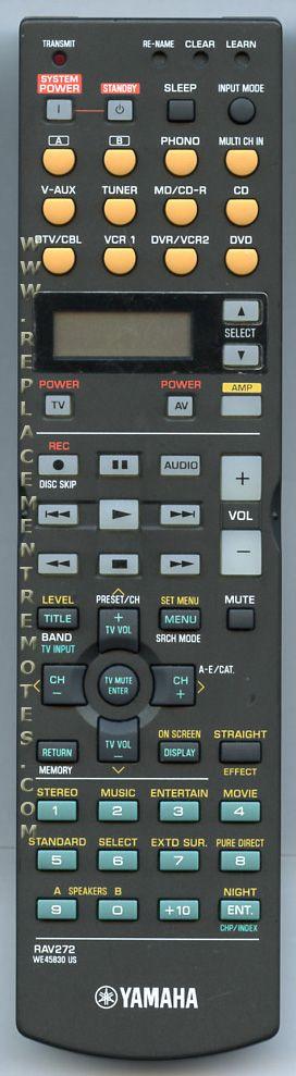 Buy yamaha we45830 rav272 we458300 audio video receiver for Yamaha remote control app