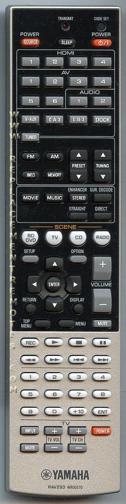 YAMAHA RAV293 Audio/Video Receiver Remote Control