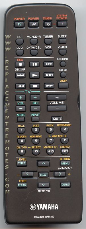 Buy Yamaha Rav301  Video Receiver Remote