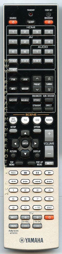 YAMAHA RAV334 Audio/Video Receiver Remote Control