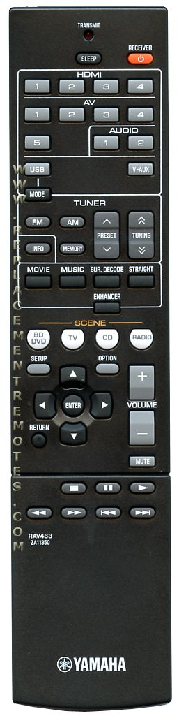 YAMAHA RAV463 Audio/Video Receiver Remote Control