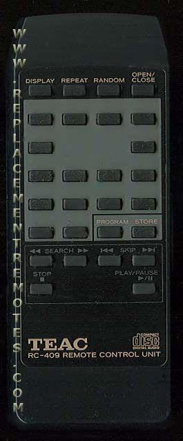 TEAC RC409 Remote Control