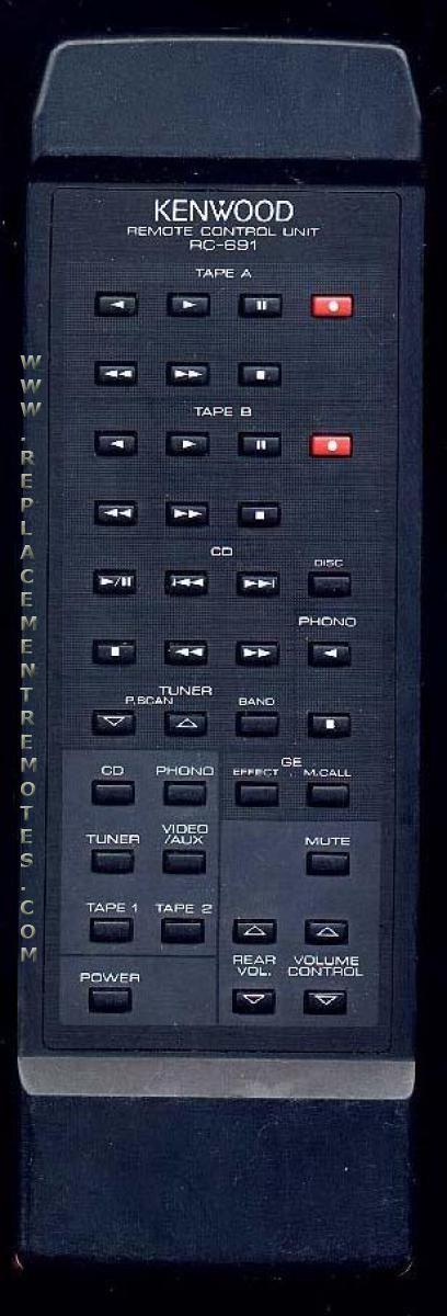 KENWOOD RC691 Audio System Remote Control