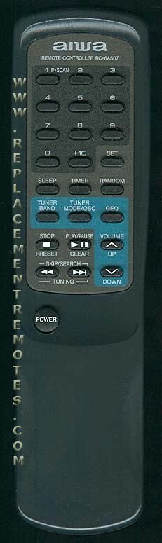 AIWA RC6AS07 Remote Control