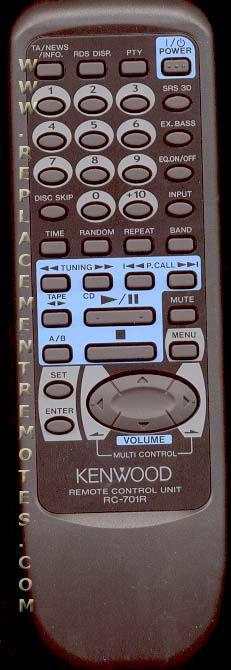 KENWOOD RC701R Remote Control