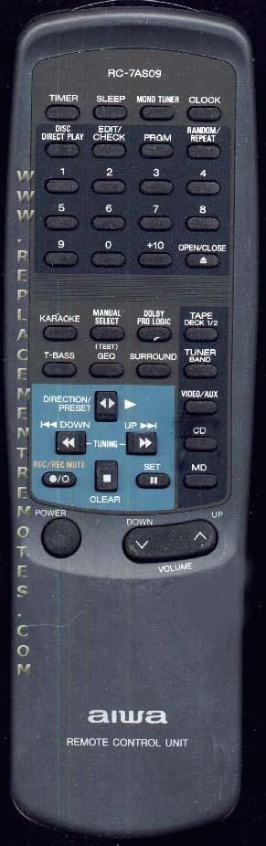 AIWA 87NFR640010 Remote Control