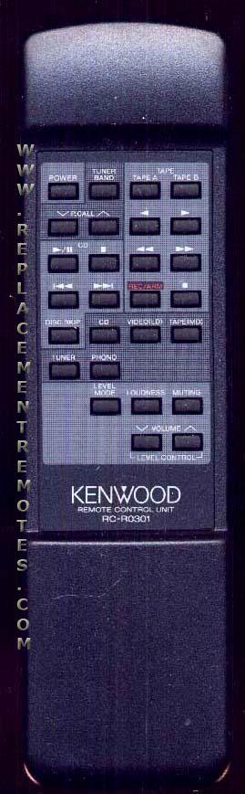 KENWOOD RCR0301 Audio System Remote Control