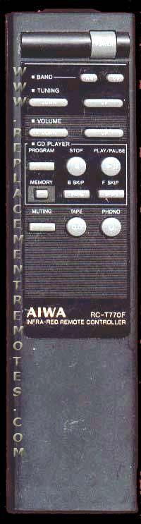 AIWA RCT770F Remote Control