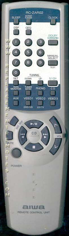 AIWA RCZAR02 Audio System Remote Control