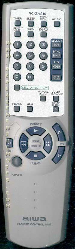 AIWA RCZAS10 Audio System Remote Control