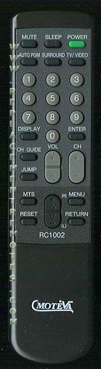 MOTEVA RC1002 Remote Control