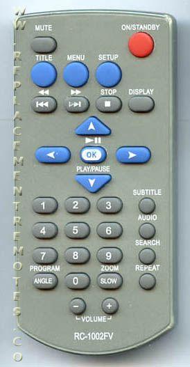 Buy Audiovox Rc1002fv Dvd Player Remote Control
