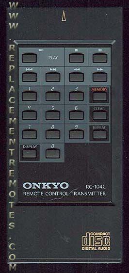 ONKYO RC104C Audio System Remote Control