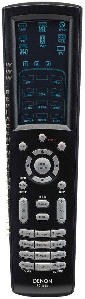 buy denon rc 1068 rc1068 3991095008 audio video receiver remote control rh replacementremotes com Denon Service Manuals denon rc 1068 manual