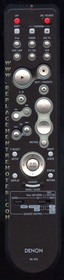 Denon rc 1075 manual treadmill manual