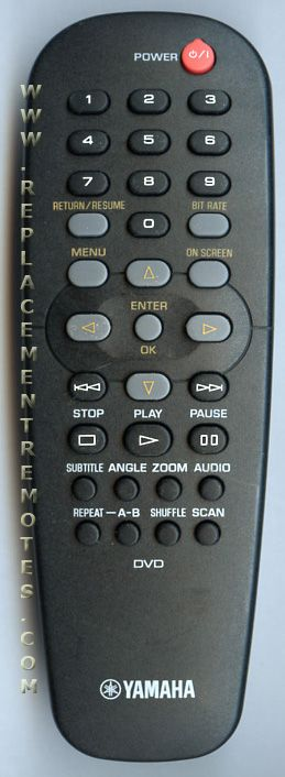 YAMAHA RC19133010/00H DVD Player Remote Control