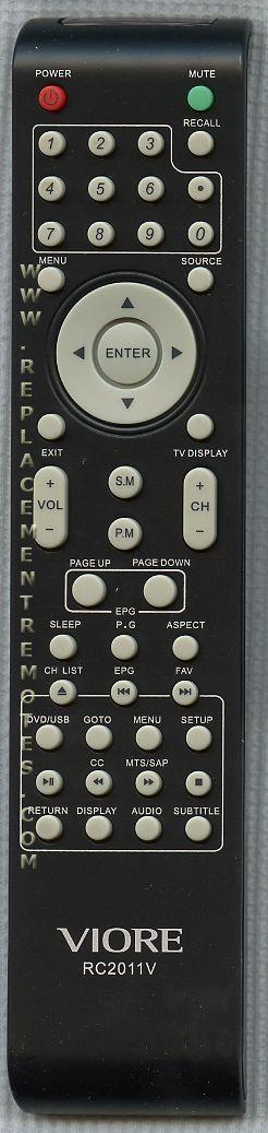 VIORE RC2011V TV Remote Control