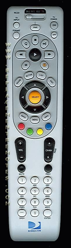 DirecTv RC23 Satellite Receiver Remote Control
