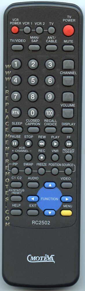 MOTEVA RC2502 Remote Control
