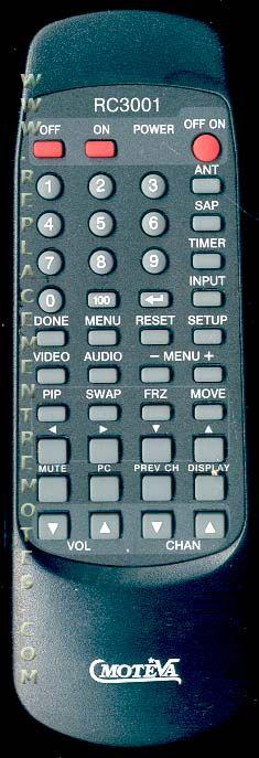 MOTEVA RC3001 RCA/GE/Proscan TV Remote Control