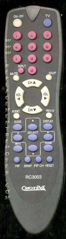 MOTEVA RC3003 RCA/GE/Proscan TV Remote Control