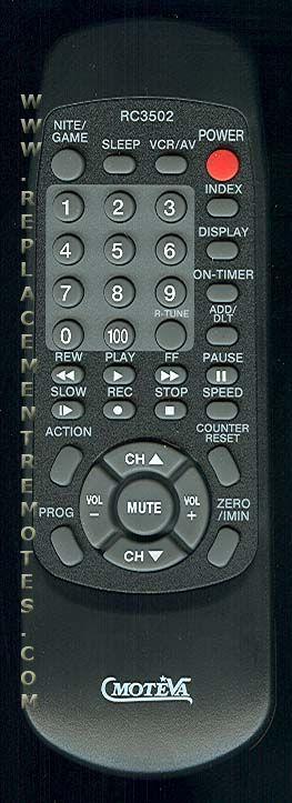MOTEVA RC3502 Remote Control