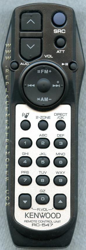 KENWOOD RC547 Car Audio System Remote Control