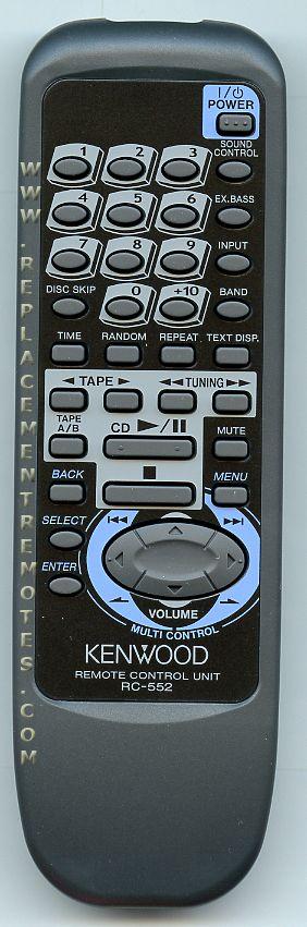 KENWOOD RC552 Remote Control